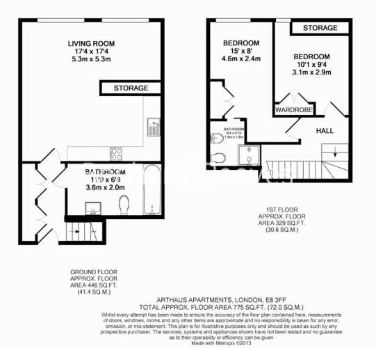 2 bedroom(s) flat to rent in Arthaus Apartments, Richmond Road, E8-Floorplan