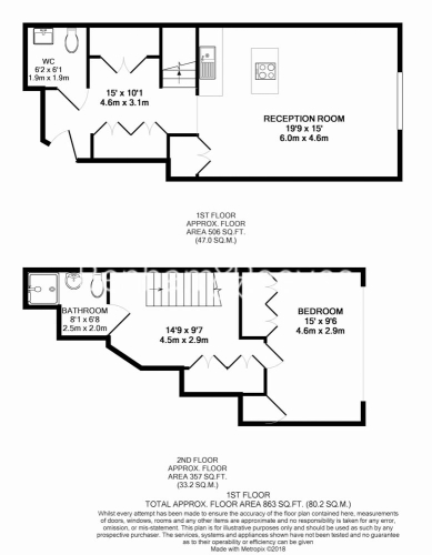 1 bedroom(s) flat to rent in Marconi House, Strand, WC2R-Floorplan