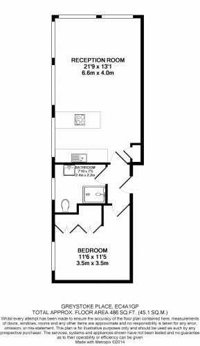 1 bedroom(s) flat to rent in Greystoke Place, City, EC4A-Floorplan