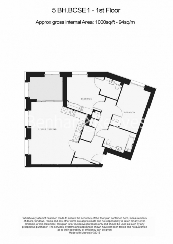 2 bedroom(s) flat to rent in St George Circus, Blackfriars Road, SE1-Floorplan