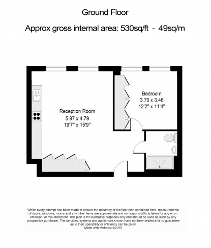 1 bedroom(s) flat to rent in Bartholomew Close, Barbican, EC1A-Floorplan