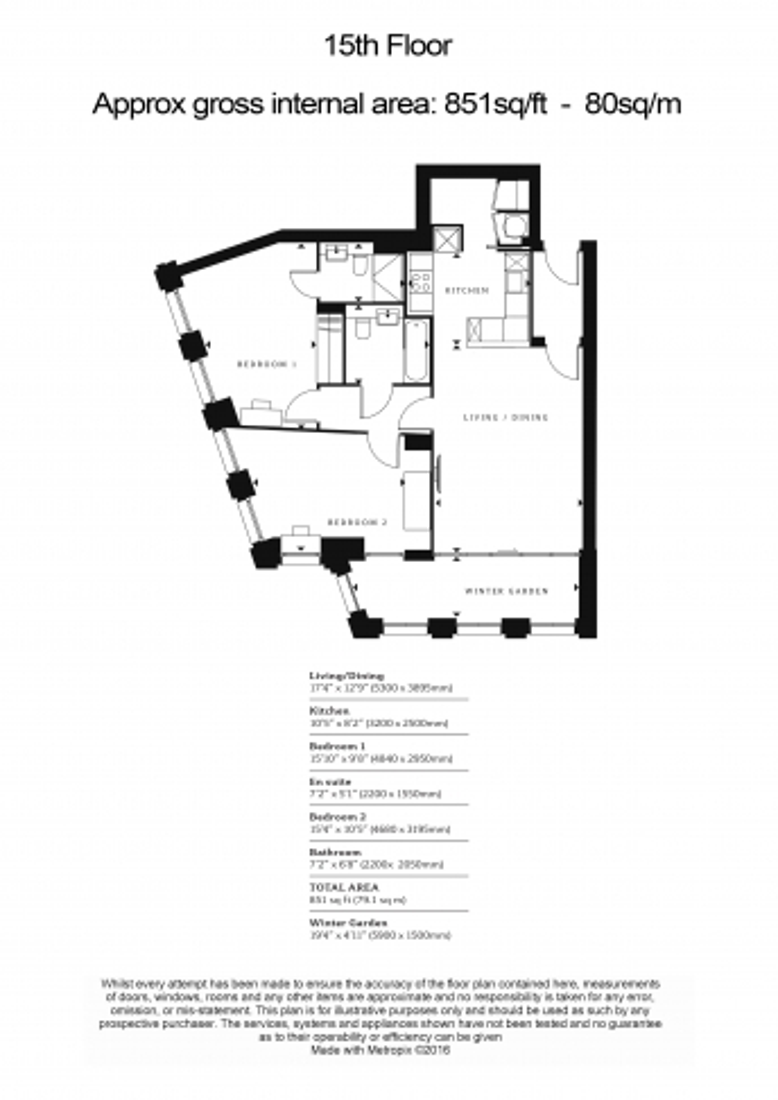 2 bedroom(s) flat to rent in Blackfriars Road, Southwark, SE1-Floorplan