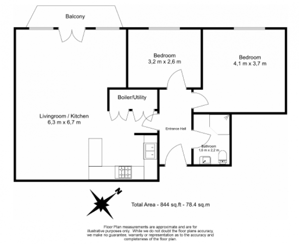 2 bedroom(s) flat to rent in New Wharf Road, City, N1-Floorplan