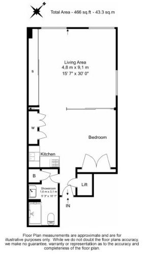 Studio flat to rent in Aria House, Craven Street, WC2N-Floorplan
