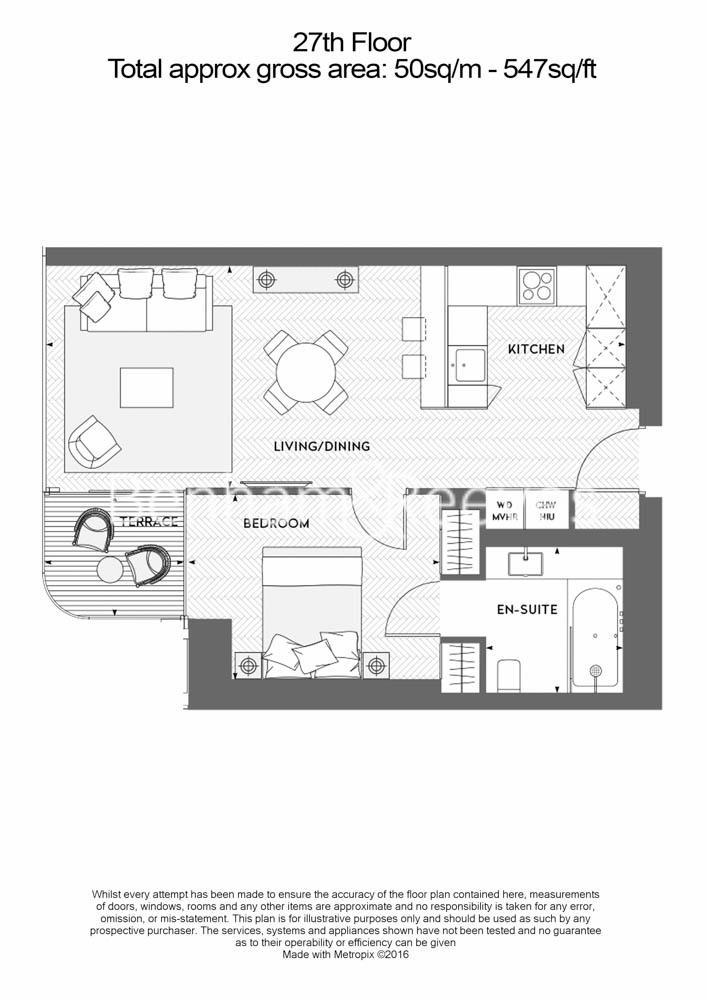 1 bedroom(s) flat to rent in Principal Tower, Worship Street, EC2A-Floorplan