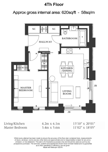 1 bedroom(s) flat to rent in Belvedere Gardens, Belvedere Road, Southbank Place, SE1-Floorplan