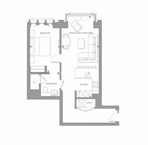 1 bedroom(s) flat to rent in Lincoln Square, Portugal Street, WC2A-Floorplan