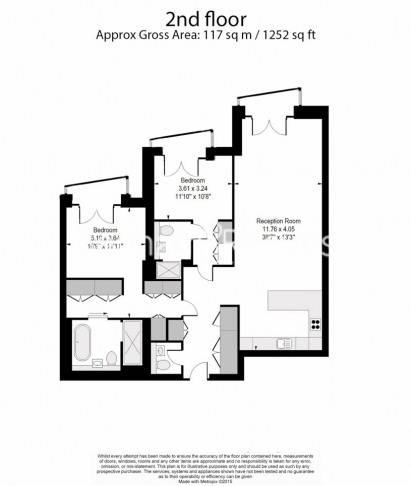 2 bedroom(s) flat to rent in Lincoln Square, Portugal Street, WC2-Floorplan