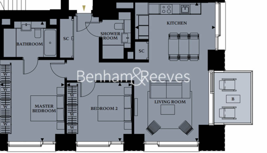 2 bedroom(s) flat to rent in 30 Casson Square, Southbank Place, SE1-Floorplan
