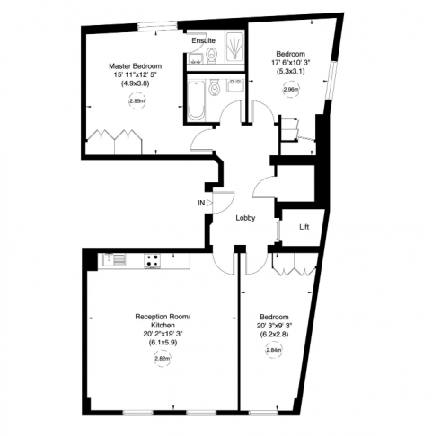 3 bedroom(s) flat to rent in Bell Yard, City, WC2A-Floorplan