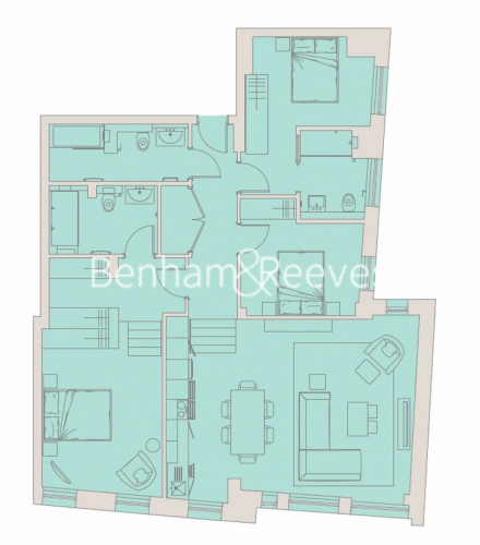 3 bedroom(s) flat to rent in Aldwych, Holborn, City, WC2A-Floorplan