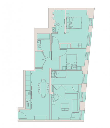 3 bedroom(s) flat to rent in Aldwych, City, WC2A-Floorplan