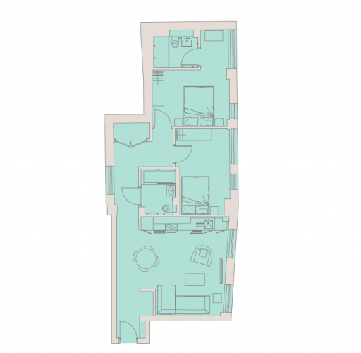 2 bedroom(s) flat to rent in Aldwych, City, WC2A-Floorplan