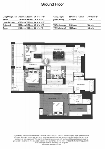 2 bedroom(s) flat to rent in Roman House, Barbican, EC2Y-Floorplan