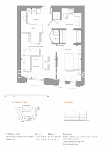 1 bedroom(s) flat to rent in Lincoln Square, 18 Portugal Street, WC2A-Floorplan