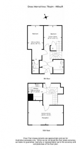 2 bedroom(s) flat to rent in North Block, Chicheley Street, SE1-Floorplan