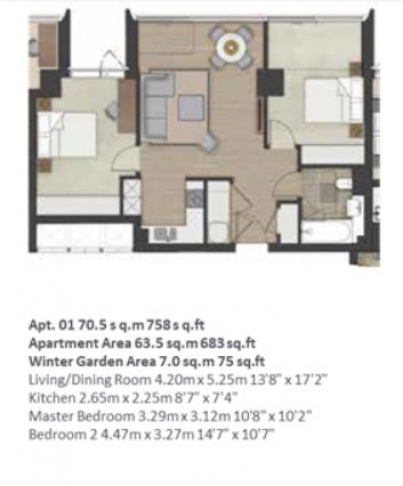2 bedroom(s) flat to rent in City Road, Islington, EC1V-Floorplan