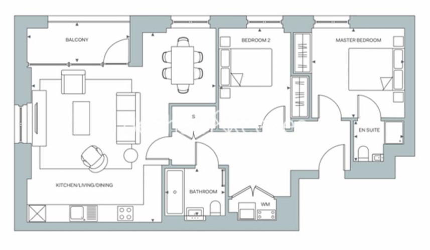 2 bedroom(s) flat to rent in Gorsuch Place, Nine Elms, E2-Floorplan
