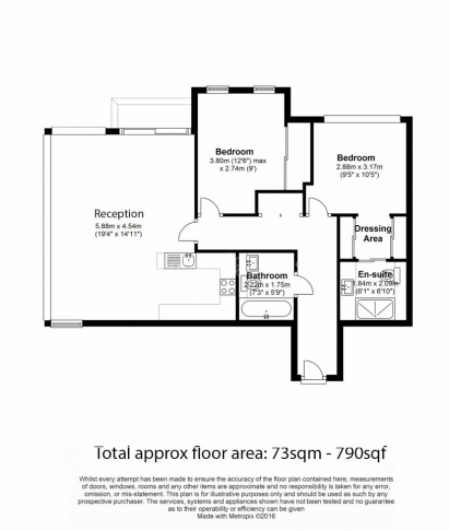 2 bedroom(s) flat to rent in Pan Peninsula West, Canary Wharf, E14-Floorplan