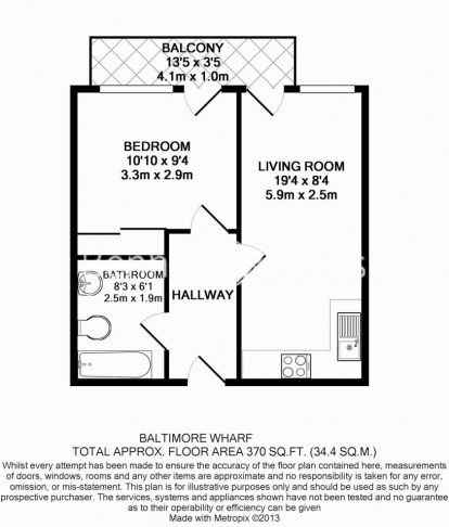 1 bedroom(s) flat to rent in Baltimore Wharf, Oakland Quay, E14-Floorplan
