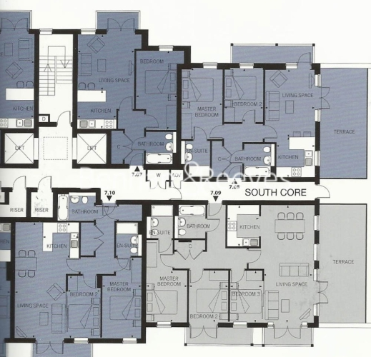 2 bedroom(s) flat to rent in Seven Sea Gardens, Canary Wharf, E3-Floorplan