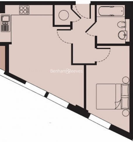 1 bedroom(s) flat to rent in Dowells Street, Canary Wharf, SE10-Floorplan