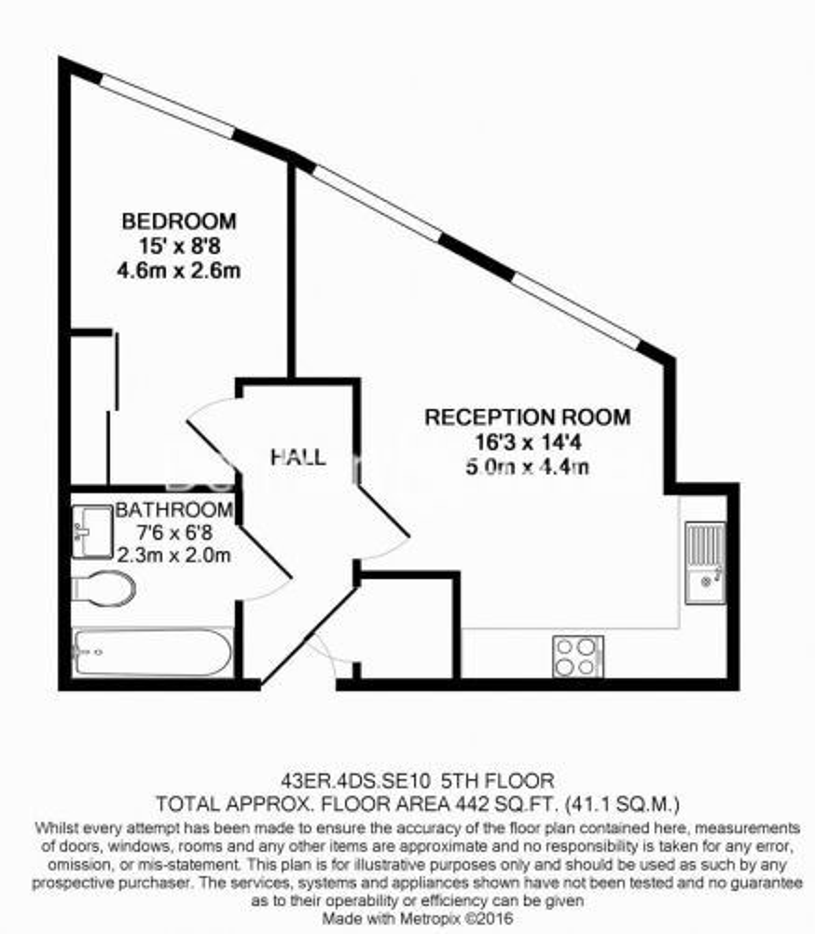 2 bedroom(s) flat to rent in Empire Reach, Dowells Street, SE10-Floorplan