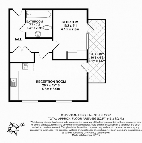 1 bedroom(s) flat to rent in New Festival Avenue, Canary Wharf, E14-Floorplan
