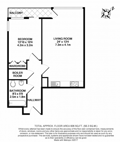 2 bedroom(s) flat to rent in Biscayne Avenue, Canary Wharf, E14-Floorplan