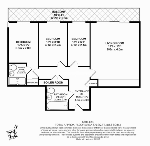 3 bedroom(s) flat to rent in Yabsley Street, Canary Wharf, E14-Floorplan