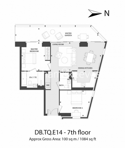 2 bedroom(s) flat to rent in Dollar Bay Point, Canary Wharf, E14-Floorplan