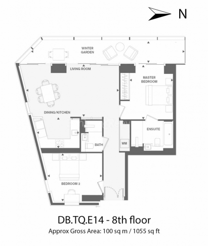 2 bedroom(s) flat to rent in Dollar Bay, Canary Wharf, E14-Floorplan