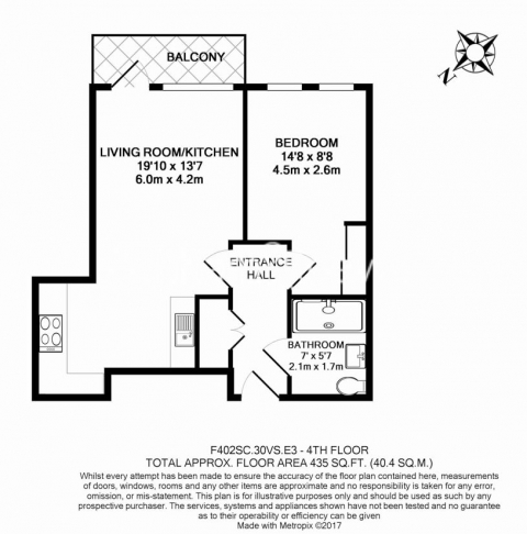 1 bedroom(s) flat to rent in Sargasso Court, Canary Wharf, E3-Floorplan