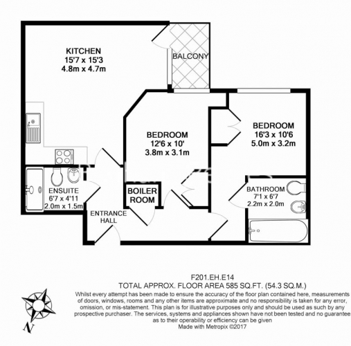 2 bedroom(s) flat to rent in St Annes Street, Canary Wharf, E14-Floorplan