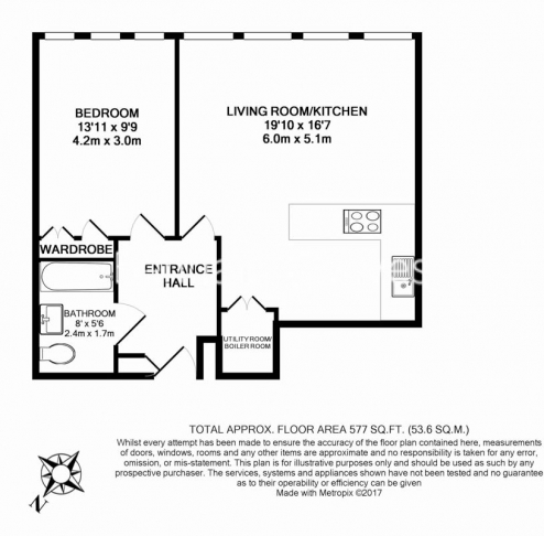 1 bedroom(s) flat to rent in Hertsmere Road, West India Quay, E14-Floorplan