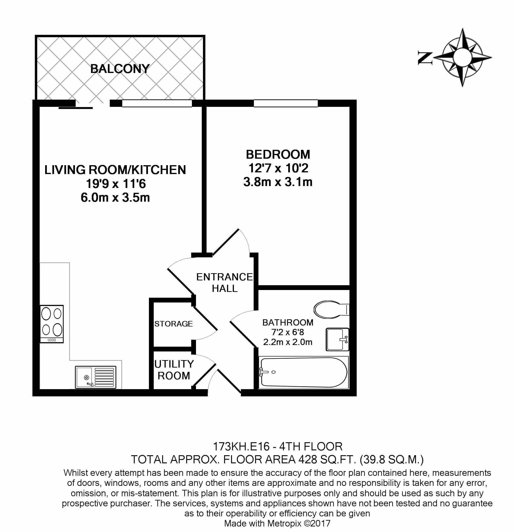 1 bedroom(s) flat to rent in Kingfisher Heights, Pontoon Dock, E16-Floorplan