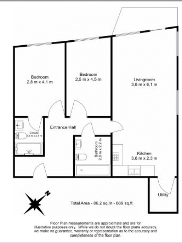 2 bedroom(s) flat to rent in Duckman Tower, Lincoln Plaza, E14-Floorplan
