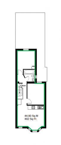 1 bedroom(s) flat to rent in Third Avenue, Canary Wharf, E12-Floorplan