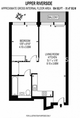 1 bedroom(s) flat to rent in Greenwich Peninsula, Canary Wharf, SE10-Floorplan