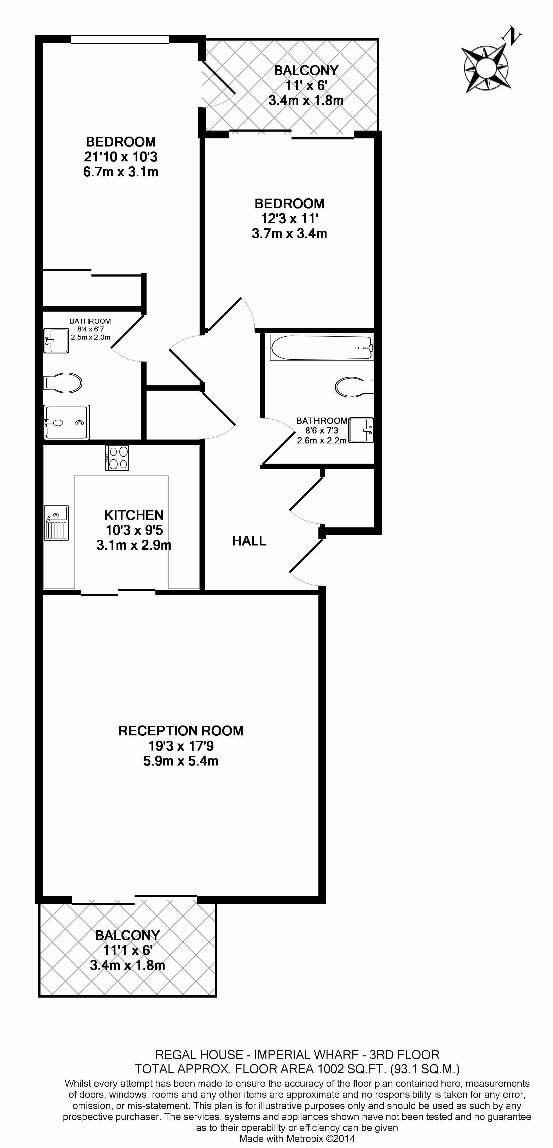 2 bedroom(s) flat to rent in Lensbury Avenue, Fulham, SW6-Floorplan