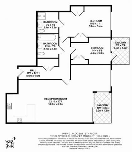 2 bedroom(s) flat to rent in Thurstan Street, Chelsea Creek, SW6-Floorplan
