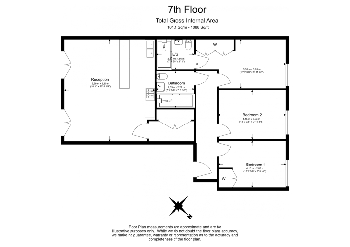 3 bedroom(s) flat to rent in Chivers Passage, Imperial Wharf, SW18-Floorplan