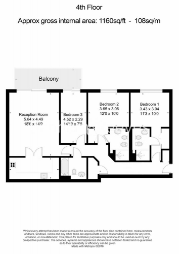 3 bedroom(s) flat to rent in Thames Point, Imperial Wharf SW6-Floorplan