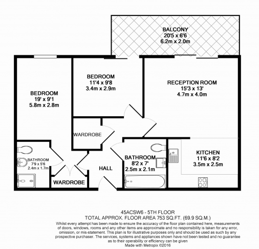 2 bedroom(s) flat to rent in Lensbury Avenue, Fulham, SW6-Floorplan