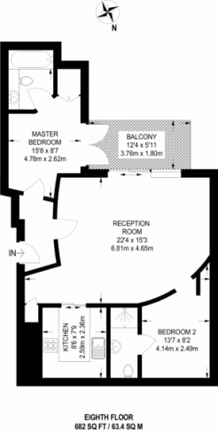 2 bedroom(s) flat to rent in The Boulevard, Imperial Wharf, SW6-Floorplan