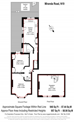 2 bedroom(s) flat to rent in Miranda Road, Whitehall Park, N19-Floorplan