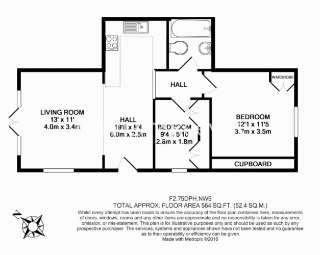2 bedroom(s) flat to rent in Dartmouth Park Hill, Dartmouth Park, NW5-Floorplan