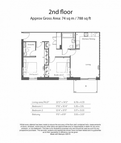 2 bedroom(s) flat to rent in Woodberry Park, Highgate, N4-Floorplan