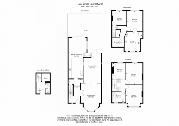5 bedroom(s) house to rent in Muswell Hill Road, Highgate, N10-Floorplan