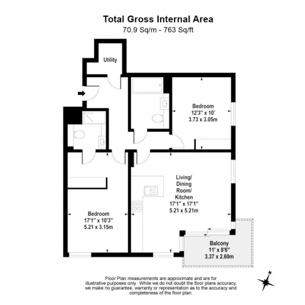 2 bedroom(s) flat to rent in Woodberry Park development, Highgate, N4-Floorplan